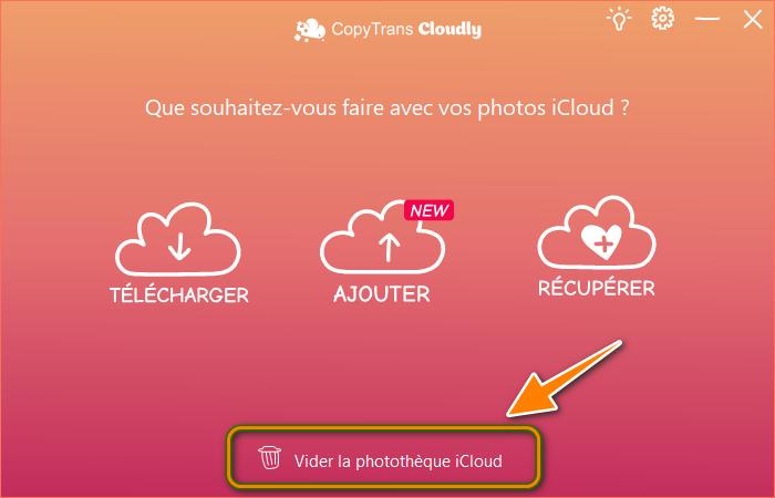 Supprimer ses photos iCloud via CopyTrans Cloudly