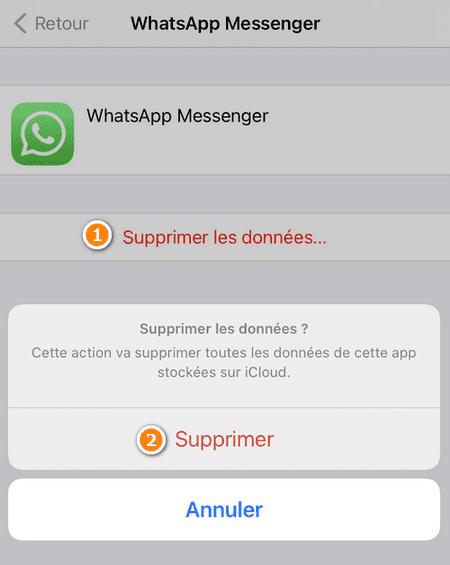 Supprimer les données d'application iPhone