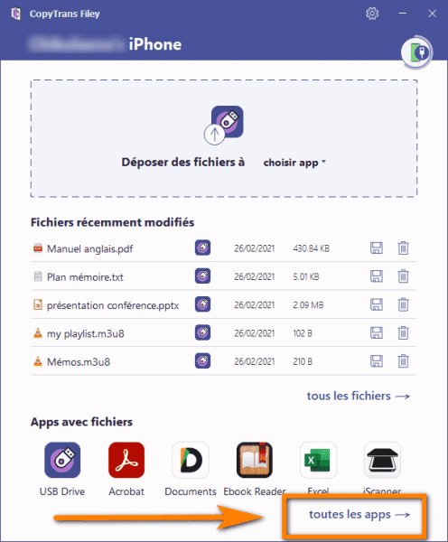 applications Android sur iPhone