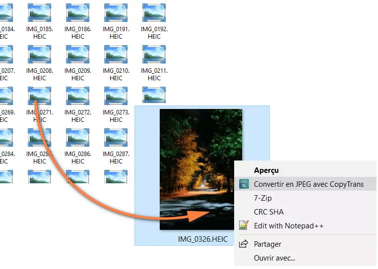 Voir les photos HEIC sur PC