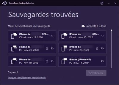 récupérer vos données iPhone