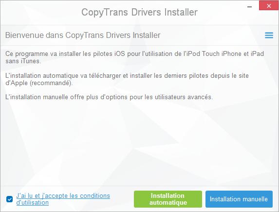 corriger erreur 4013 avec CopyTrans Drivers Installer