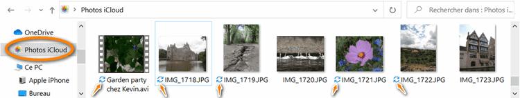 Chargement de photos en cours dans iCloud pour Windows